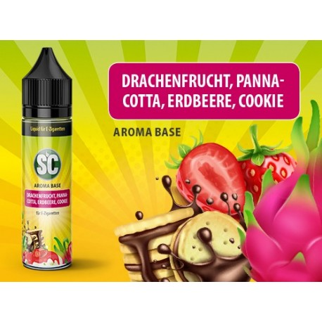 SC Shortfill Liquid Drachenfrucht, Pannacotta, Erdbeere und Cookie 50ml